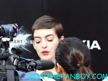 Anne Hathaway arriving to the dark knight Rises world movie premiere in new york city rare promo hot