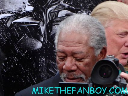 morgan freeman arriving to the dark knight Rises world movie premiere in new york city rare promo hot
