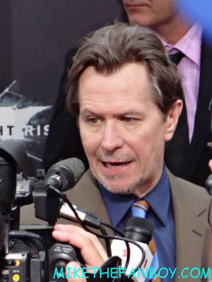 Gary OLdman arriving to the dark knight Rises world movie premiere in new york city rare promo hot comissioner gordon