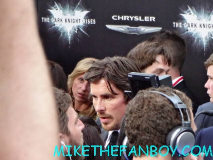 christian bale arriving to the dark knight Rises world movie premiere in new york city rare promo hot
