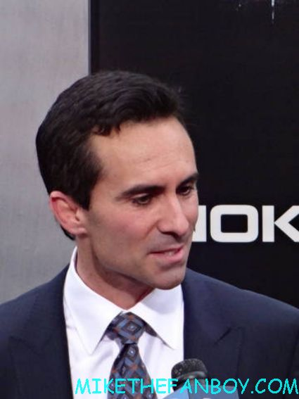 Nestor Carbonell arriving to the dark knight Rises world movie premiere in new york city rare promo hot