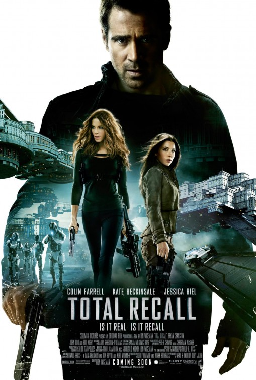 total_recall_ver12 total recall one sheet movie poster promo kate beckinsale hot sexy colin farrell jessica biel rare sex promo movie poster hot