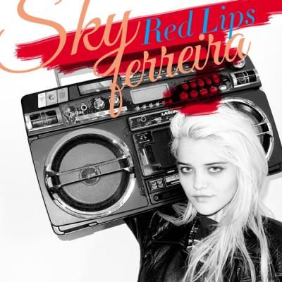 Red Lips – Sky Ferreira rare promo cd single cover artwork hot sexy rare promo