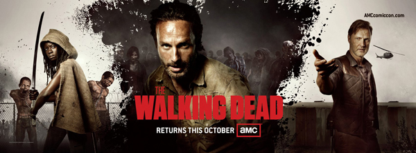 The Walking Dead season 3 rare comic con promo poster image andrew lincoln hot sexy rare san diego comic con 2012 awesome