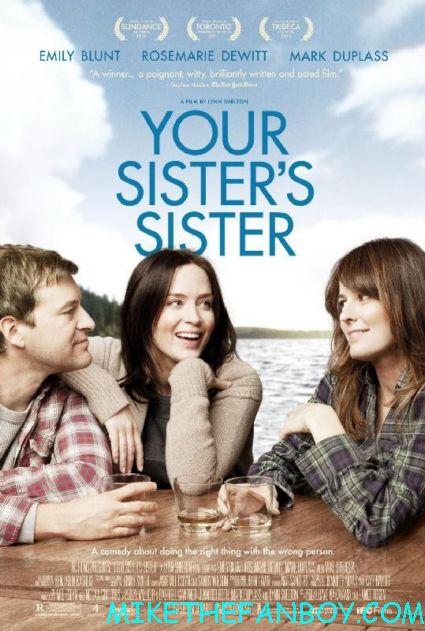 your_sisters_sister-poster your sister's sister rare promo movie poster hot sexy rare emily blunt mark duplass rosemarie dewitt