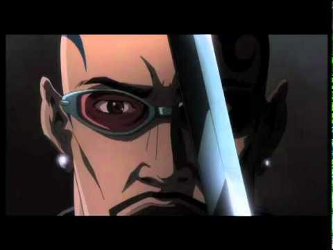 Blade the anime series rare press promo still hot sexy wesley snipes vampire hunter rare promo sword marvel anime