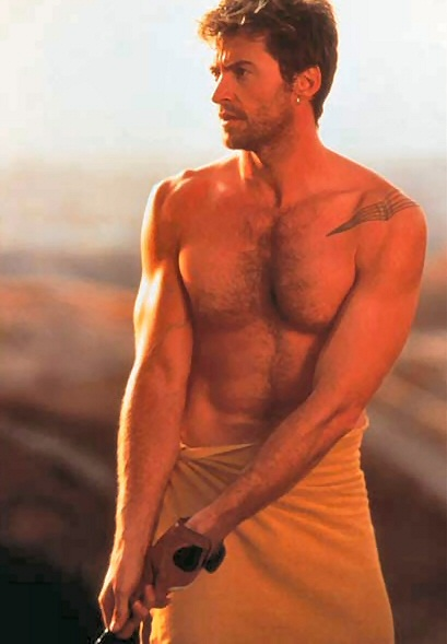hugh jackman shirtless sexy hot naked promo photo photo shoot rare australian promo photo muscle pecs rare