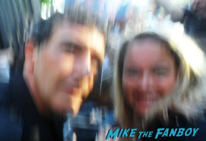 pinky with a antonio banderas having a photo flop from mike the fanboy signing autographs rare promo hot sexy rare
