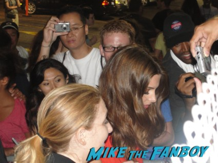 twilight star ashley greene sexy hot signing autographs for fans after a taping of jimmy kimmel live in hollywood rare promo sexy
