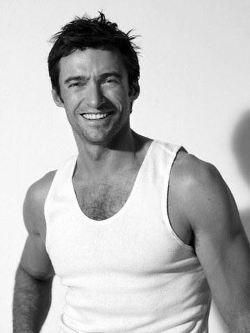 Hugh jackmas hot sexy rare promo photo shoot wife beater muscle workout tank top hot promo rare