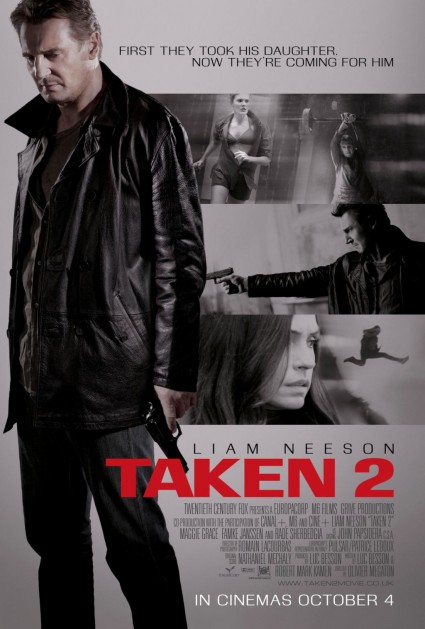 Taken 2 one sheet movie poster promo british movie poster liam neeson rare key art promo taken again taken 2 rare