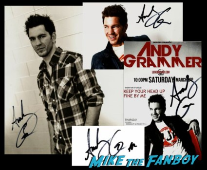 ANdy Grammer signed autograph photo cd cover hot sexy singer  hot sexy andy grammer  signing autographs for fans after doing a promotional appearance for his new cd