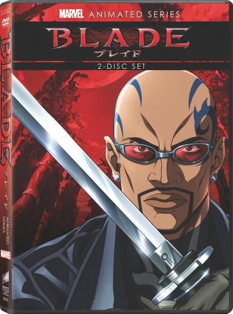 Blade-anime dvd cover package art Blade the anime series rare press promo still hot sexy wesley snipes vampire hunter rare promo sword marvel anime