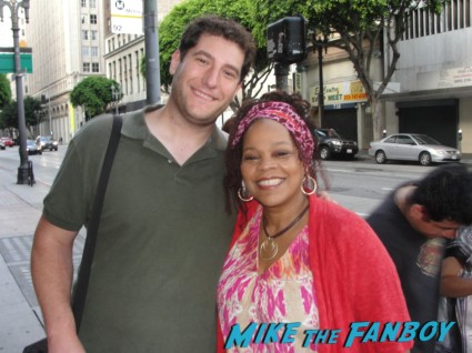 Mike The Fanboy wih Tonye Patano aka Heylia James from weeds on set in downtown los angeles