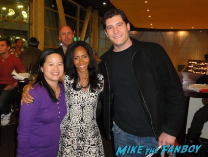 Mike the fanboy with sex jada pinkett smith at a screening of hawthorne at the arclight theater rare q and a promo