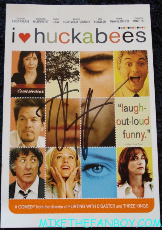 dustin hoffman signed autograph I heart huckabees dvd dustin hoffman signing autgoraphs at the kung movie premiere for the dvd release of kung foo panda on dvd with angelina jolie dustin hoffman jack black autographs and more