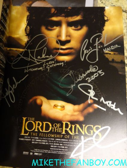 craig parker signed autograph lord of the rings poster with food at wizard world chicago 2012 opening gates sign logo rare promo with norman reedus sheryl lee rare autograph signed hot
