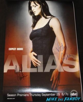 michael vartan signed autograph alias rare promo mini poster victor garber rare promo hot sexy alias stars