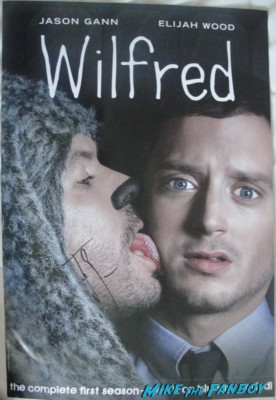 Jason Gann signed autograph wilfred promo comic con mini poster sdcc san diego comic con wilfred promo sexy hot