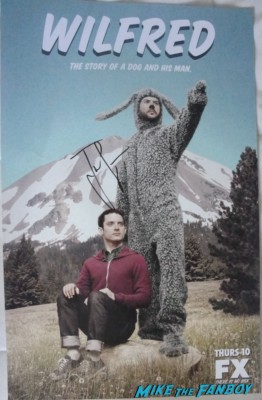 Jason Gann signed autograph wilfred promo comic con mini poster sdcc san diego comic con wilfred promo sexy hot