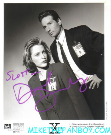 x files toe tag photo mark selinger signed autograph david duchovny gillian anderson chris carter rare art bok photo hot