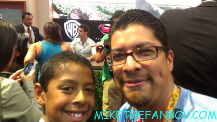 Andrew and his son at san diego comic con 2012 at the man of steel autograph signing with Henry Cavill