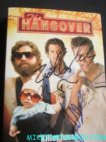 justin bartha signed autograph the hangover promo dvd one sheet cover art rare promo cover