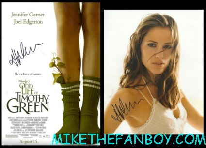 Jen Garner signed autograph photo rare odd life of timothy green promo movie poster alias 13 going on 30 hot sexy sydney bristow