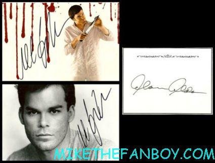 Michael c hall signed autograph photo cards dexter alan alda autograph success via mail rare pormo