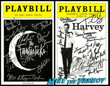 harvey and the fantastics signed autograph Playbills jim parsons carol kane rare promo signed autograph playbill