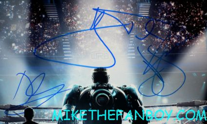 Hugh Jackman signed Autograph real steel promo mini movie poster hot sexy australian