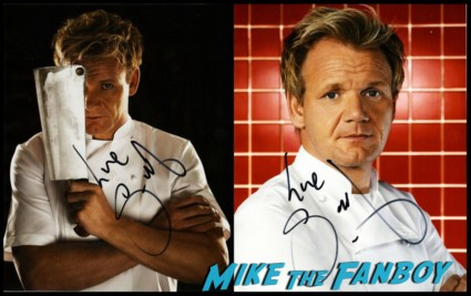 gordon Ramsay signed autograph promo photograph rare hot sexy kitchen nightmares star chef rare