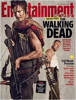 entertainment weekly the walking dead collector's magazine cover hot sexy norman reedus hot sexy magazine cover promo  rare promo hot