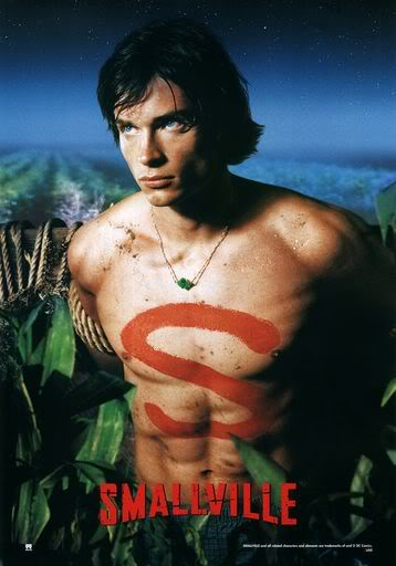 Smallville-Tom-Welling-Shirtless naked season one promo poster one sheet smallville season 1 promo poster rare hot muscle abs pecs muscle