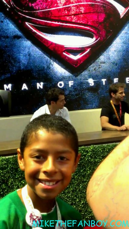 Henry Cavill hot and sexy at the man of steel autograph signing at the WB booth for man of steel rare promo
