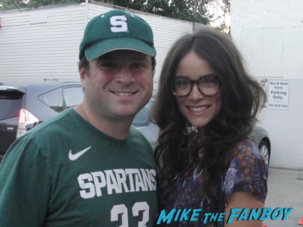 abigail spencer posing with billy for a fan photo Abigail Spencer signed autograph signature rare promo photo photograph promo hot sexy rare