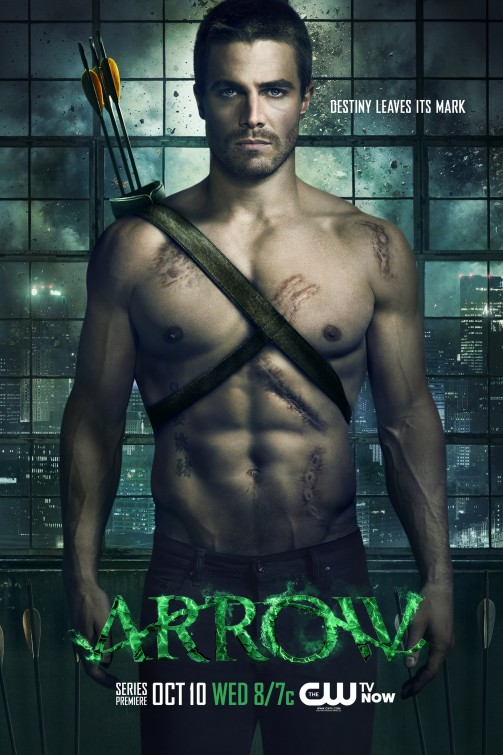 stephen amell shirtless naked arrow promo poster season 1 cw one sheet hot muscle rare super hero green arrow