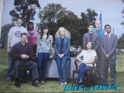 Aubrey Plaza signed autograph parks and recreation cast photo rare promo amy poehler