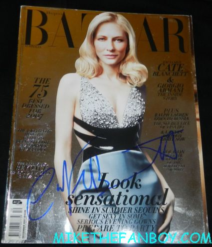 cate blanchett signed autograph harper's Bazaar foil cover magazine naked photo uk edition rare promo indiana jones