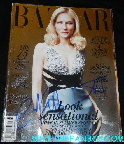 cate blanchett signed autograph harper's Bazaar foil cover magazine naked photo uk edition rare promo indiana jones