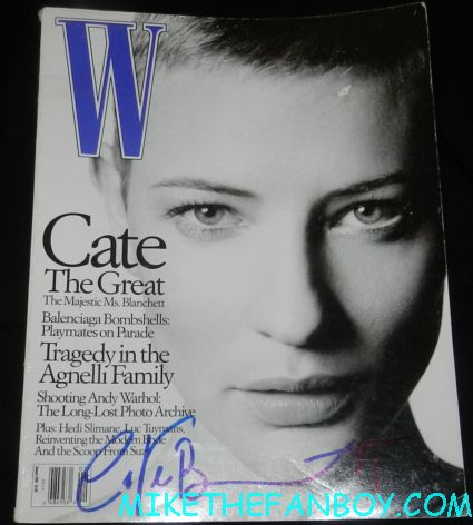 cate blanchett signed autograph w magazine magazine naked photo uk edition rare promo indiana jones