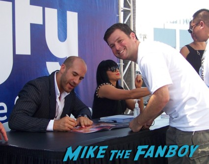 cesaro wrestler looking hot at the wwe Summer Slam Axxess 2012 fan event downtown los angeles signing autographs rare promo