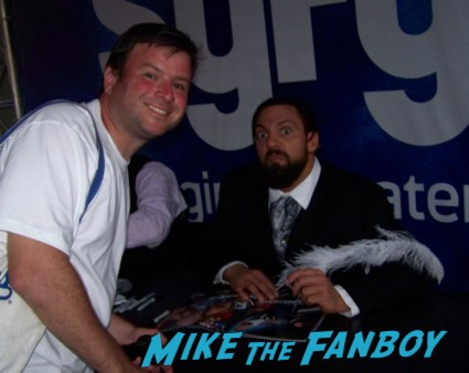 damien sandal william regal damien sandow big red machine   sexy wrestler  ooking hot at the wwe Summer Slam Axxess 2012 fan event downtown los angeles signing autographs rare promo