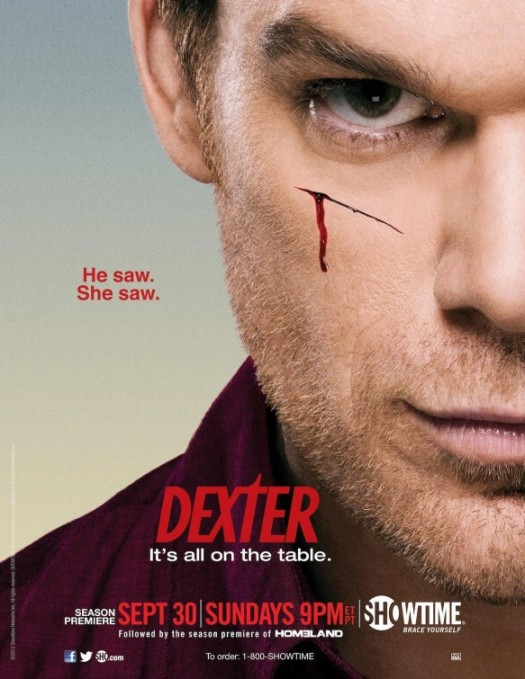 dexter season 7 rare promo one sheet movie poster promo michael c hall rare hot sexy showtime promo rare blood serial killer sex scruffy