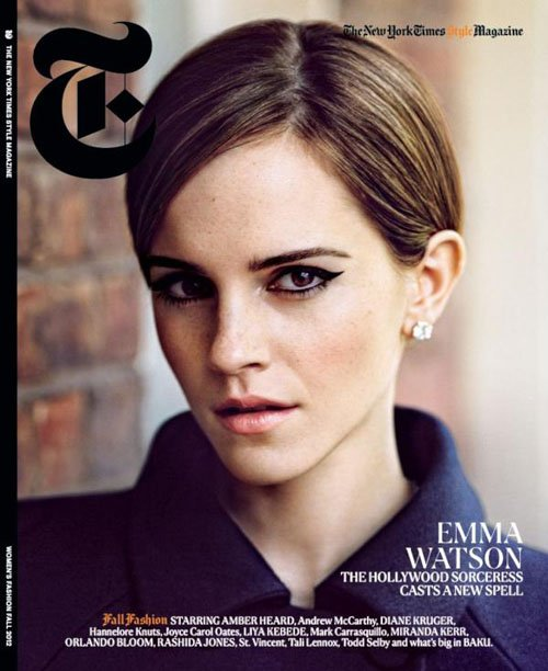 "emma-watson-t-style-fall-2012 Emma Watson Covers The New York Times ""T"" Style Fashion Fall 2012 Hermione Granger hot sexy photo shoot rare promo"