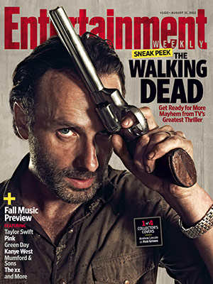 entertainment weekly the walking dead collector's magazine cover hot sexy andrew lincoln rick rare promo hot