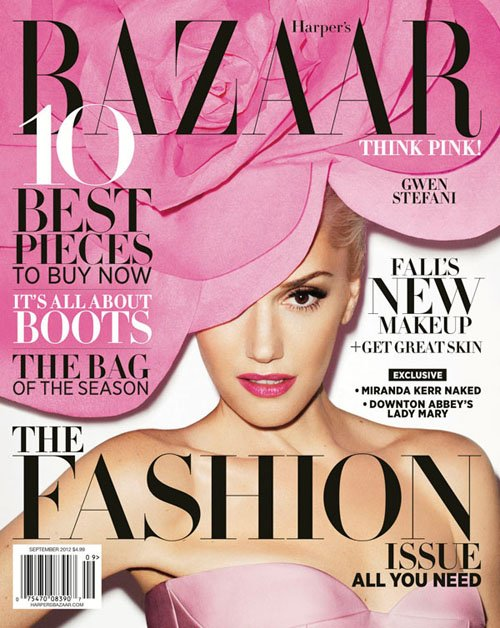 gwen-stefani-harpers-bazaar magazine cover september 2012 rare hot sexy photo shoot no doubt settle down rare promo photo