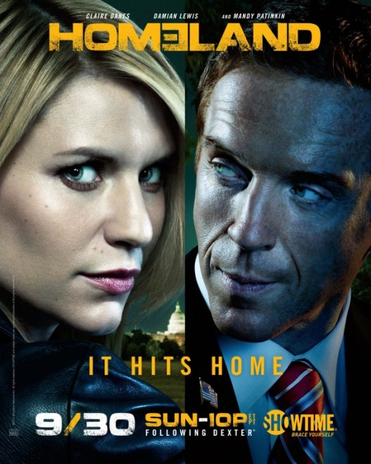 homeland season 2 rare promo one sheet movie poster damian lewis claire danes rare showtime series