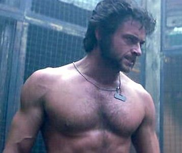 hugh_jackman-wolverine-sex shirtless naked muscle pecs rare promo hot sexy photo shoot wolverine damn fine sexy chest hair