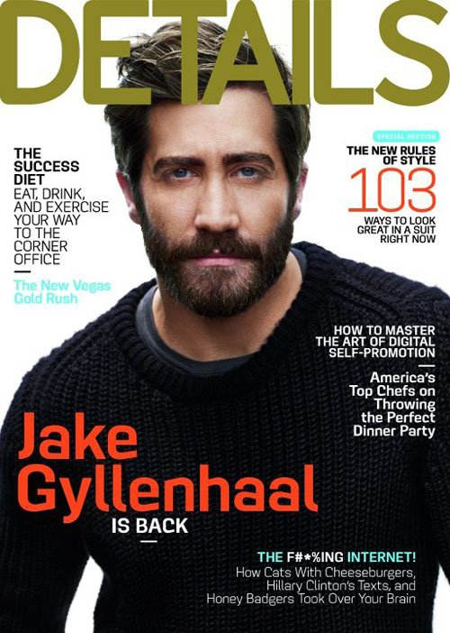 Jake Gyllenhaa looks hot and sexy on the cover of details magazine september 2012 hot sexy mark selinger photo shoot rare promo